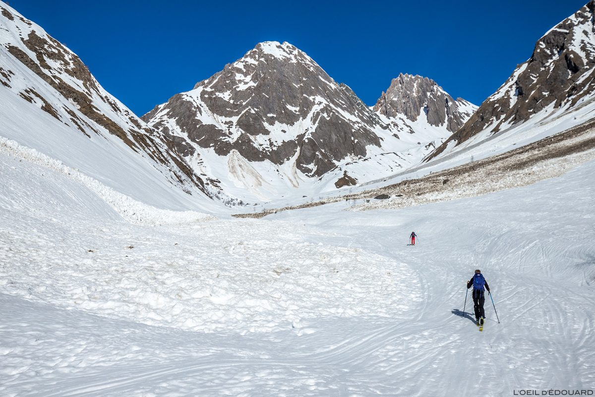 Avalanches dans le Vallon du Forand en hiver - Pointe de Gargan, Massif du Beaufortain, Savoie / Ski de randonnée Paysage Montagne Outdoor Mountain winter ski touring