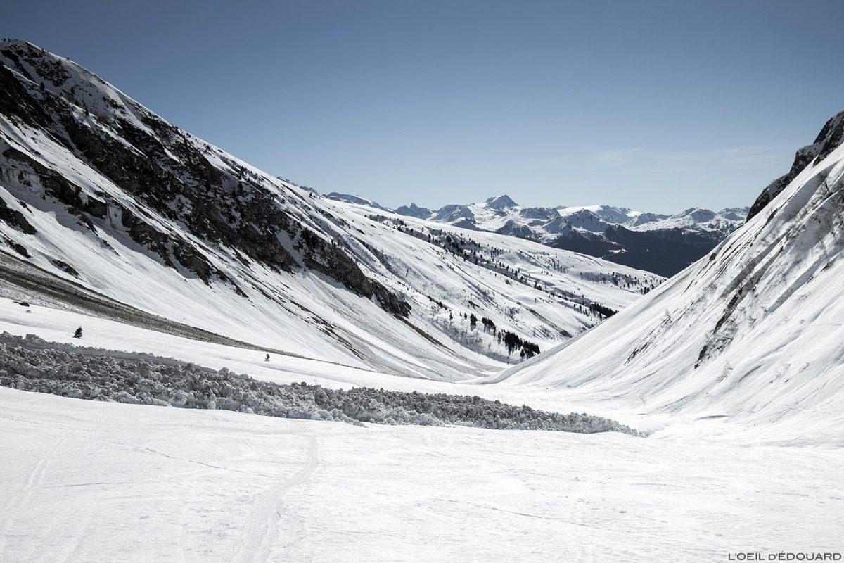 Avalanche dans le Vallon du Forand en hiver - Massif du Beaufortain, Savoie / Ski de randonnée Paysage Montagne Outdoor Mountain winter ski touring