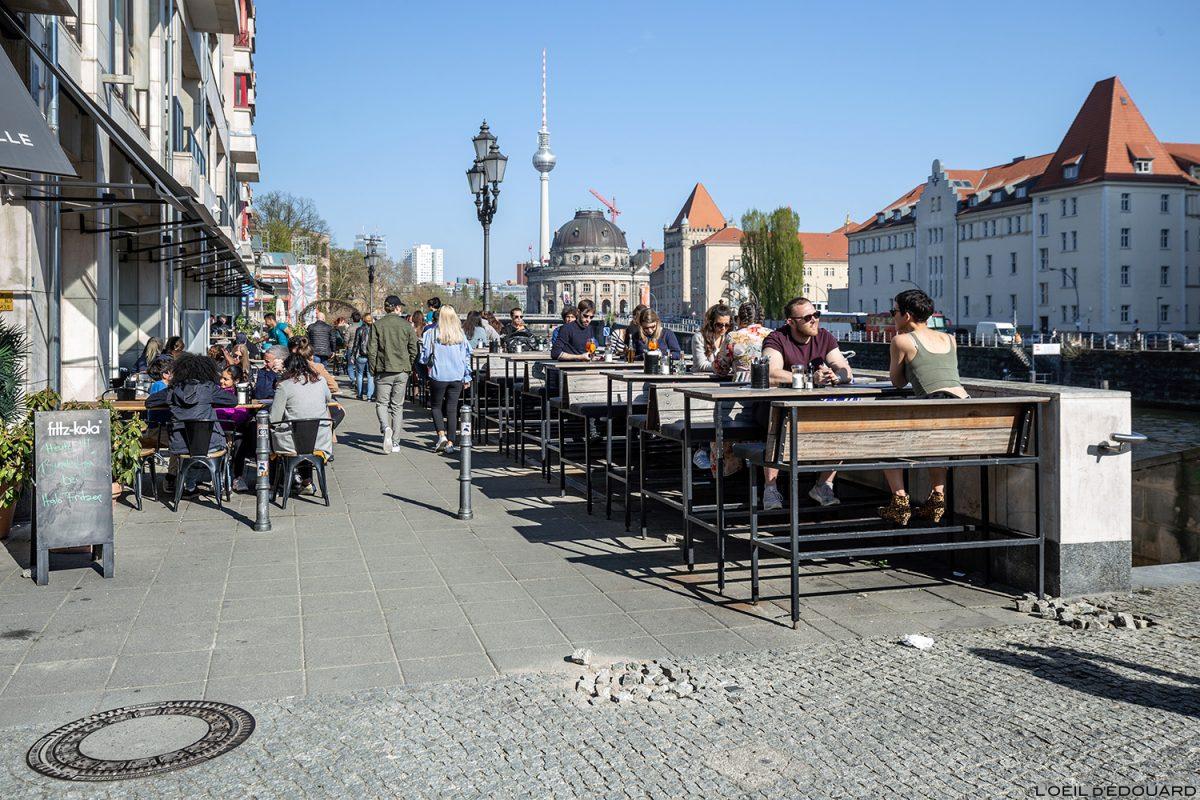 Terrasse Bar restaurant Italofritzen Berlin Allemagne Deutschland Germany