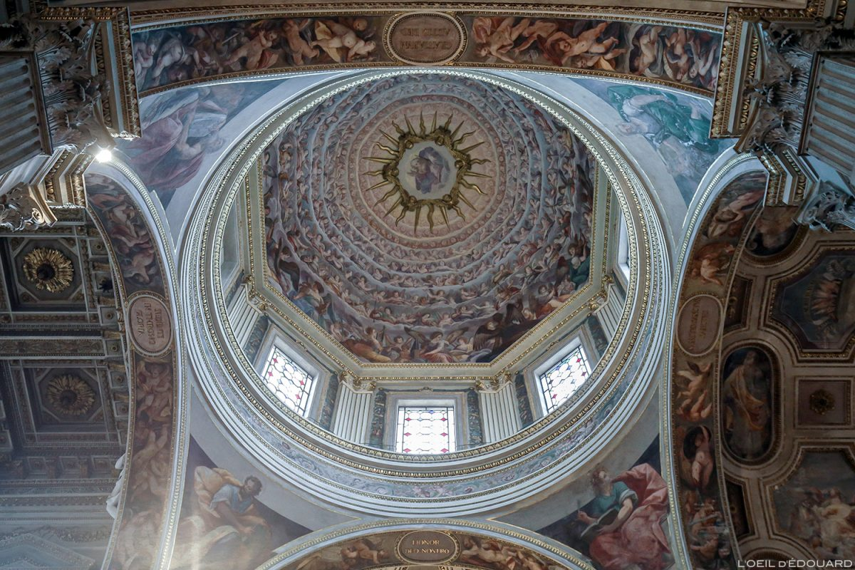 Coupole Cathédrale de Mantoue Italie / Duomo de San Pietro di Mantova Italia Italy church