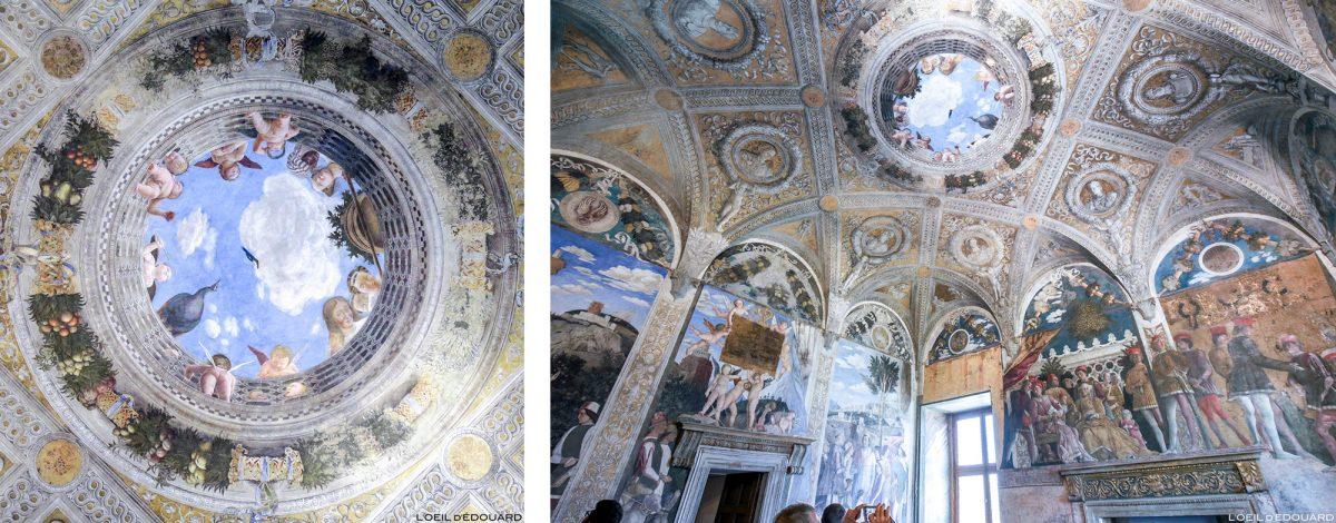 Oculus de la Chambre des Époux, Palais ducal, Mantoue Italie - Fresques de Andrea Mantegna / La Camera degli Sposi (1465-1474) Palazzo Ducale di Mantova, Italia Italy paintings floor
