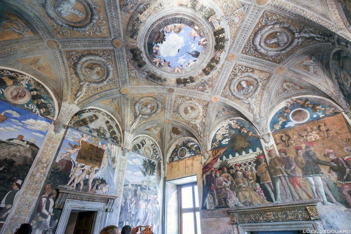 La Chambre des Époux, Palais ducal, Mantoue Italie - Fresques de Andrea Mantegna / La Camera degli Sposi (1465-1474) Palazzo Ducale di Mantova, Italia Italy paintings floor
