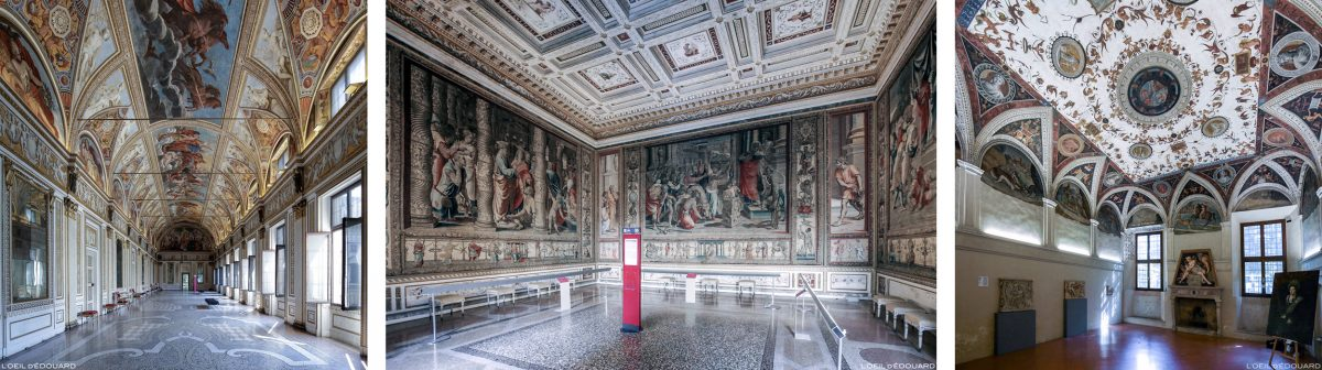 Salles, intérieur du Palais ducal, Mantoue Italie - Sale interno del Palazzo Ducale di Mantova, Italia Italy palace rooms