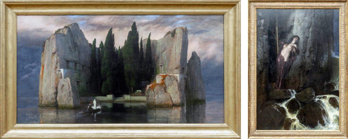 Alte Nationalgalerie : L'Île des Morts / The Isle of the Dead (1883) Ocean breakers (the Sound) (1879) Arnold Böcklin - Île aux Musées de Berlin Allemagne / Museumsinsel Deutschland Germany painting