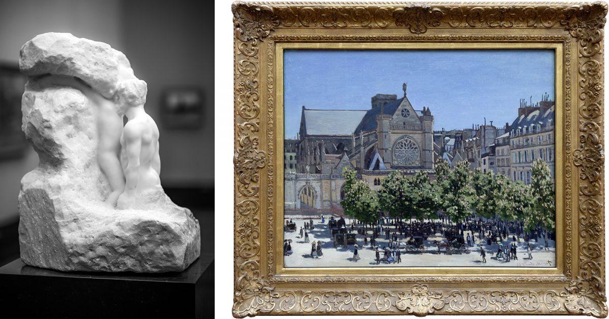 Alte Nationalgalerie : L'Homme et sa Pensée (1900) Auguste Rodin / Saint-Germain l'Auxerrois à Paris (1867) Claude Monet - Île aux Musées de Berlin Allemagne / Museumsinsel Deutschland Germany painting sculpture