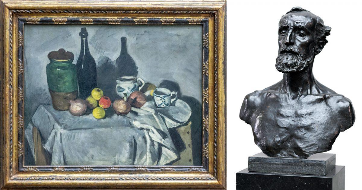 Alte Nationalgalerie : Nature morte (fruits et pots)(1870) Paul Cézanne / Jules Dalou (1883) Auguste Rodin - Île aux Musées de Berlin Allemagne / Museumsinsel Deutschland Germany painting sculpture