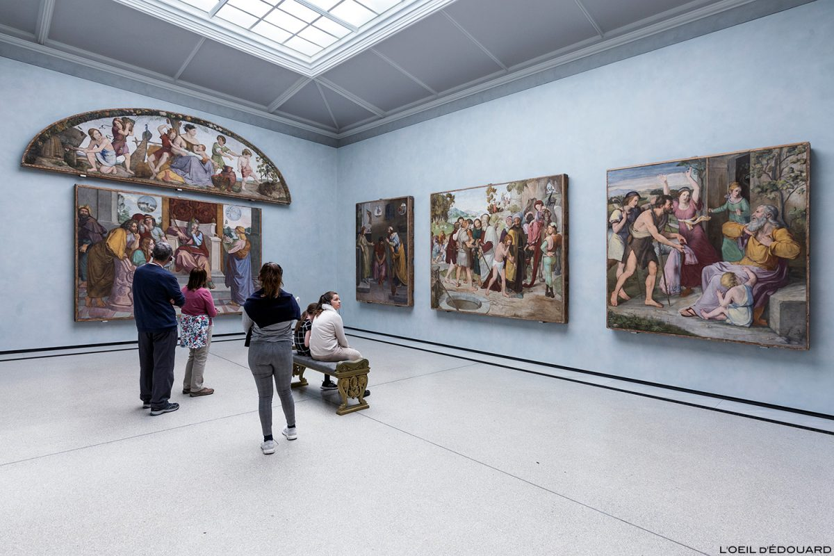 Fresques Wandbilder aus der Casa Bartholdy in Rom (Roma) - Alte Nationalgalerie, Île aux Musées de Berlin Allemagne / Museumsinsel Deutschland Germany painting