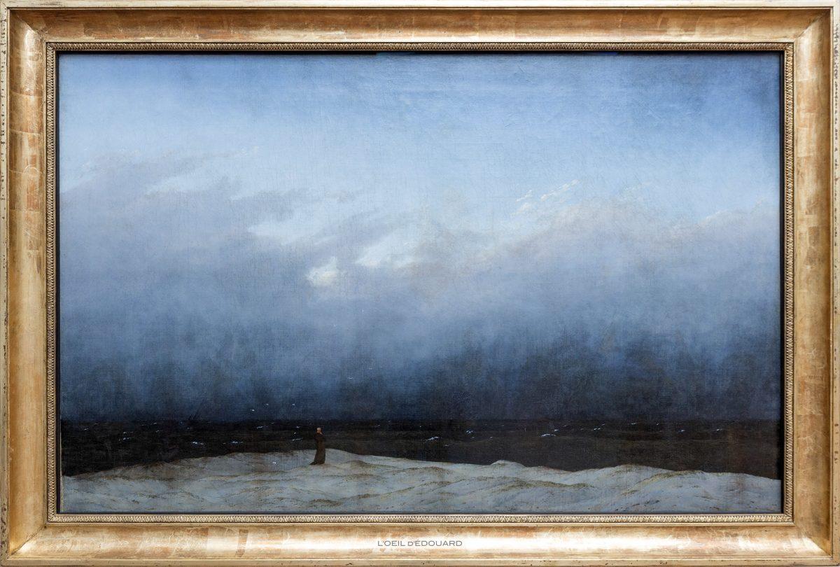 Le Moine au bord de la mer / Der Mönch am Meer (1809/1810) Caspar David Friedrich - Alte Nationalgalerie, Île aux Musées de Berlin Allemagne / Museumsinsel Deutschland Germany painting