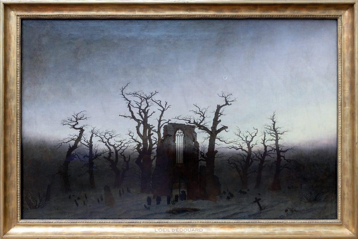 Abbaye dans une forêt de chênes / Abtei im Eichwaldr (1809/1810) Caspar David Friedrich - Alte Nationalgalerie, Île aux Musées de Berlin Allemagne / Museumsinsel Deutschland Germany painting