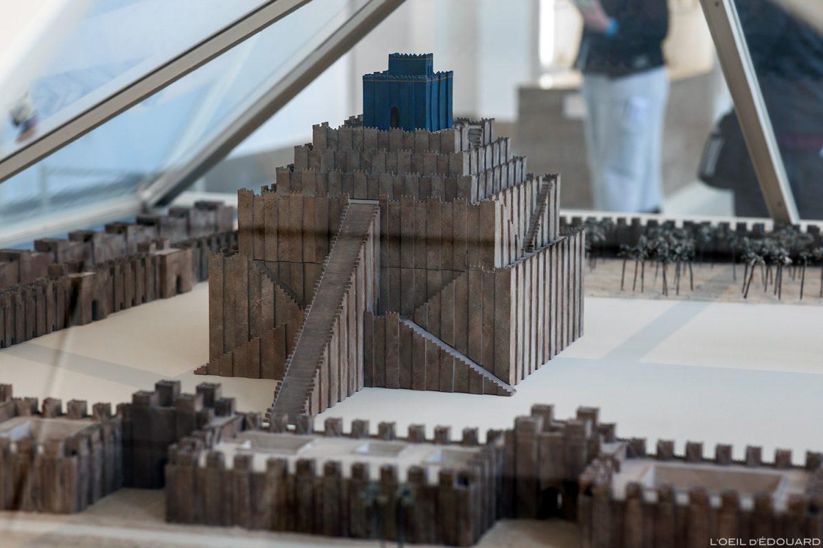 Maquette de la Tour de Babylone, Musée de Pergame - Île aux Musées de Berlin Allemagne / Babylon Tower, Pergamonmuseum, Museumsinsel Deutschland Germany