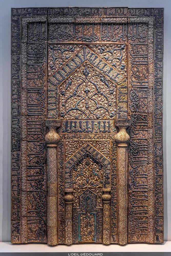 Mihrab Musée de Pergame - Île aux Musées de Berlin Allemagne / Prayer niche from Kashan, Pergamonmuseum, Museumsinsel Deutschland Germany