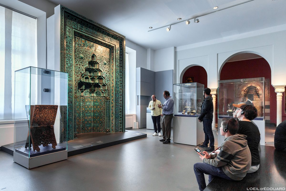 Mihrab Musée de Pergame - Île aux Musées de Berlin Allemagne / Prayer niche from Beyhekim Mosque, Pergamonmuseum, Museumsinsel Deutschland Germany