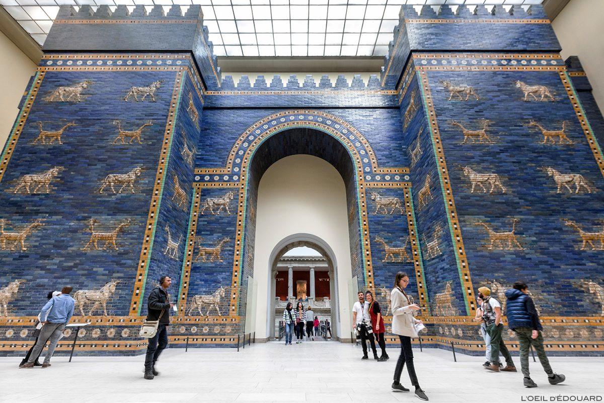 Porte d'Ishtar de Babylone, Musée de Pergame - Île aux Musées de Berlin Allemagne / Ishtar Gate of Babylon, Pergamonmuseum Museumsinsel Deutschland Germany