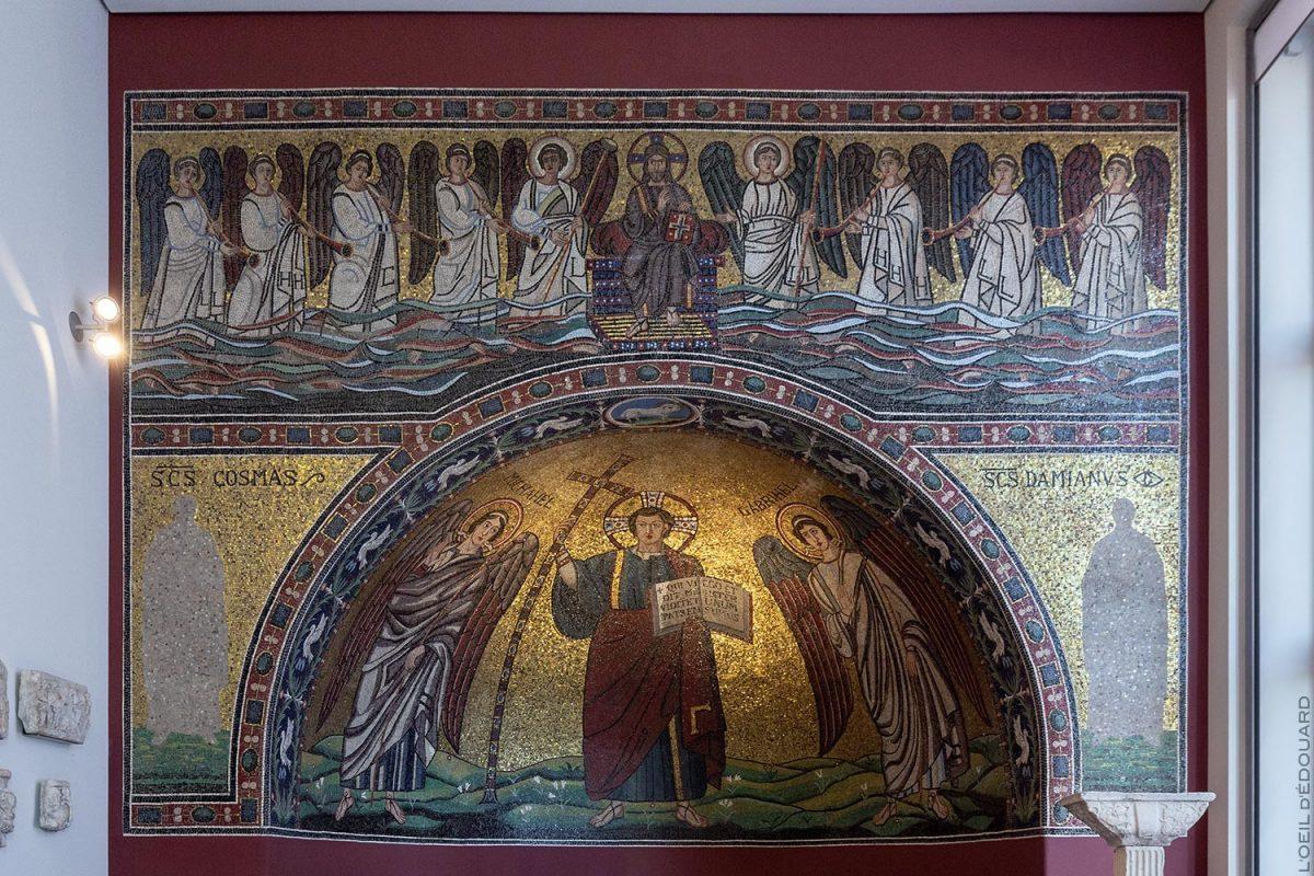Mosaïque de Ravenne, Musée de Bode, Île aux Musées de Berlin Allemagne / Apse Mosaic of Ravenna, Bode-Museum, Museumsinsel Deutschland Germany