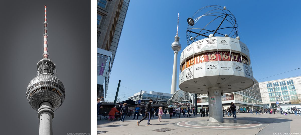 Tour Fernsehturm tower et Place AlexanderPlatz Berlin Allemagne Deutschland Germany