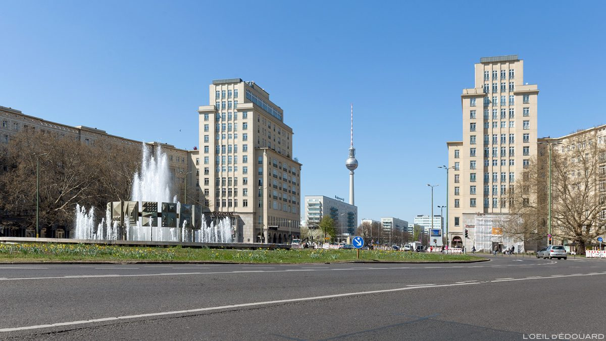 Strausberger Platz Berlin Allemagne Deutschland Germany