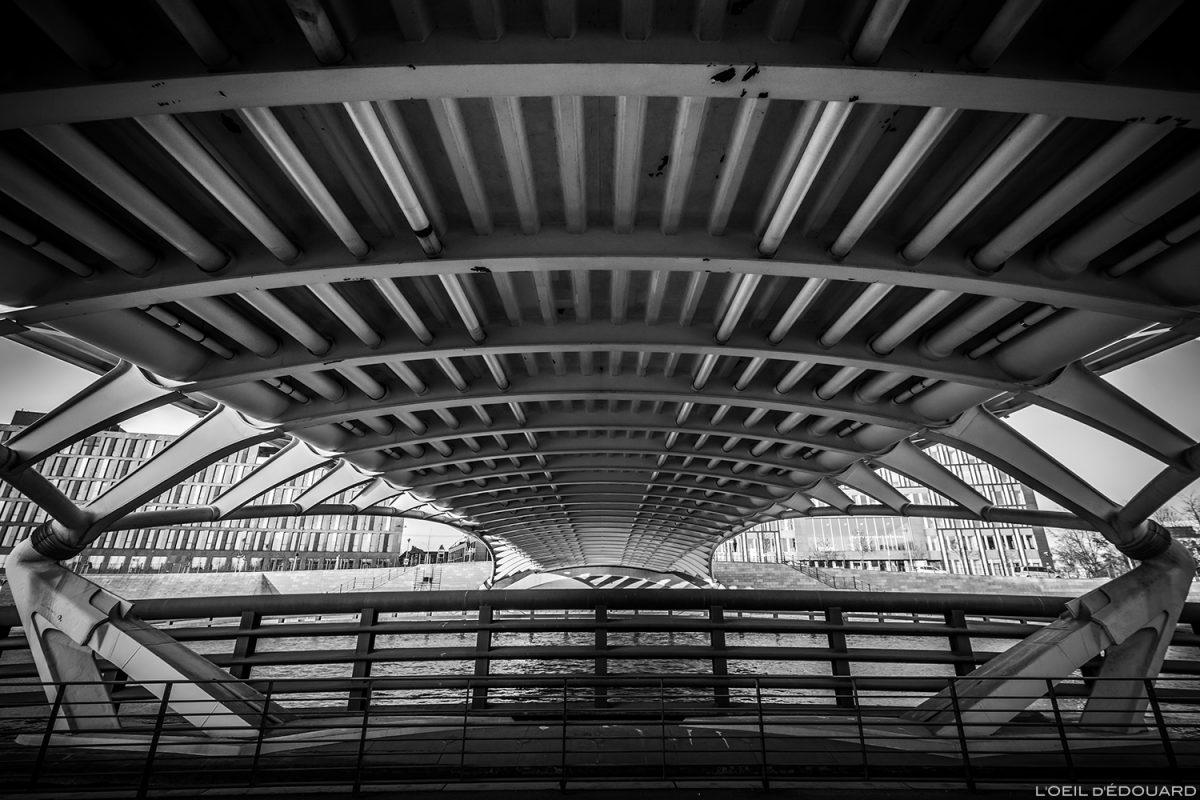 Pont Kronprinzenbrücke, Berlin Allemagne - Santiago Calatrava architecte / Deutschland Germany bridge architecture