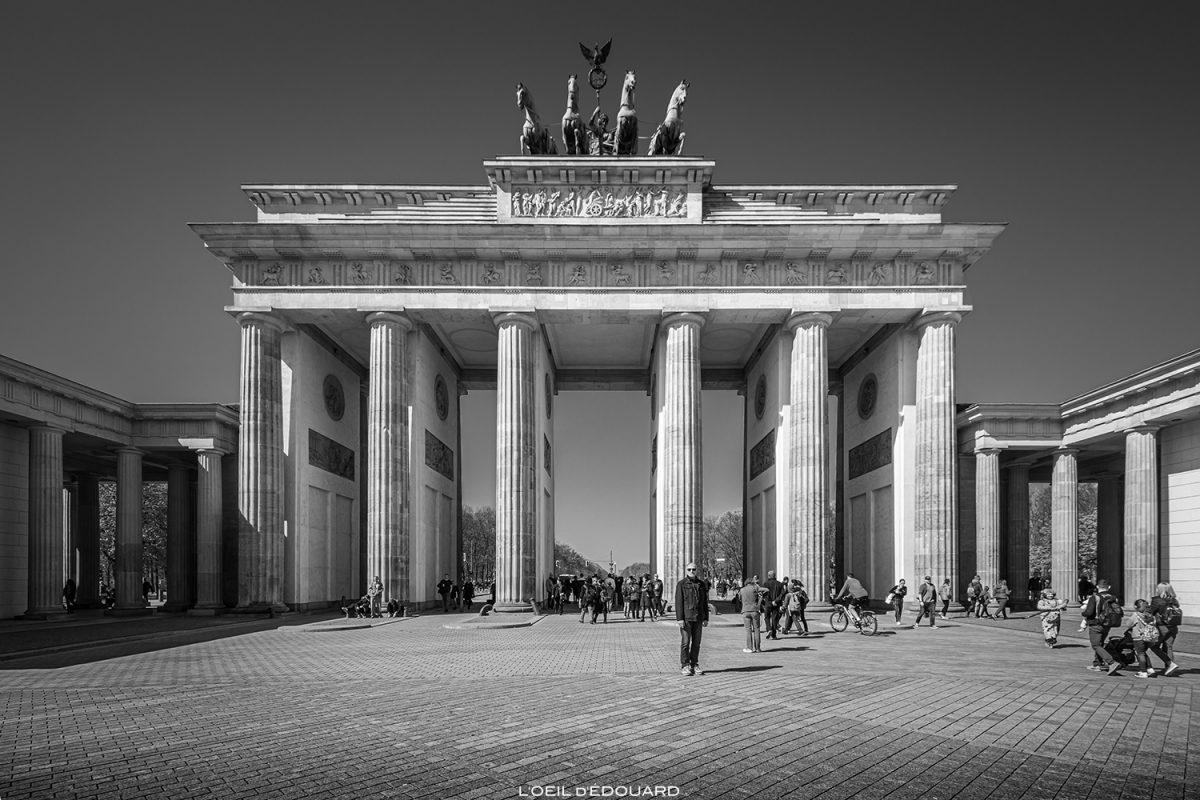 Porte de Brandebourg, Berlin Allemagne / Brandenburg Gate Germany / Brandenburger Tor Deutschland © L'Oeil d'Édouard - Tous droits réservés
