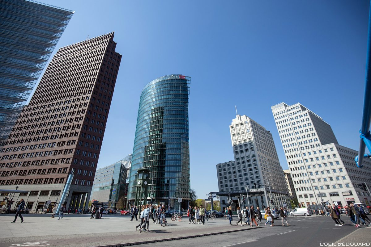 Bâtiments Potsdamer Platz Berlin Allemagne / Architecture Buildings Germany / Berliner Deutschland