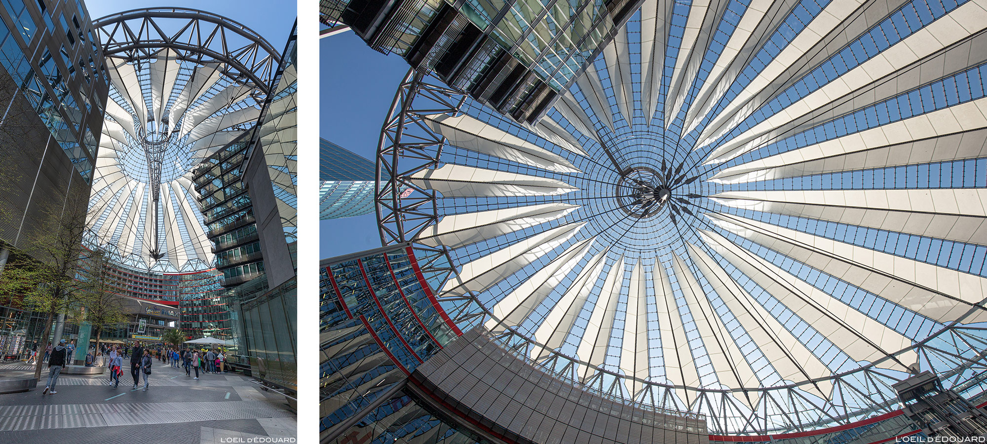 Sony Center Berlin Allemagne, Potsdamer Platz / Architecture Buildings Germany / Deutschland Helmut Jahn architecte