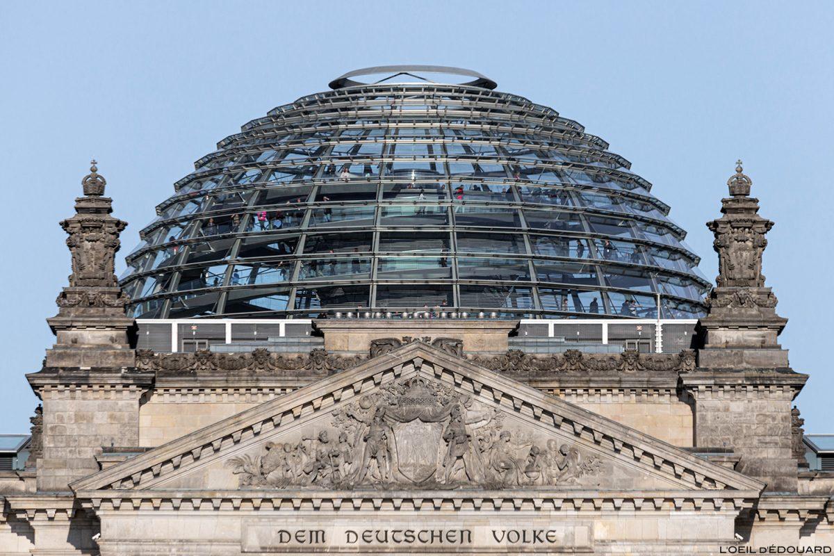 Coupole du Reichstag Berlin Allemagne / Deutschland Germany architecture Sir Noman Foster architecte verre
