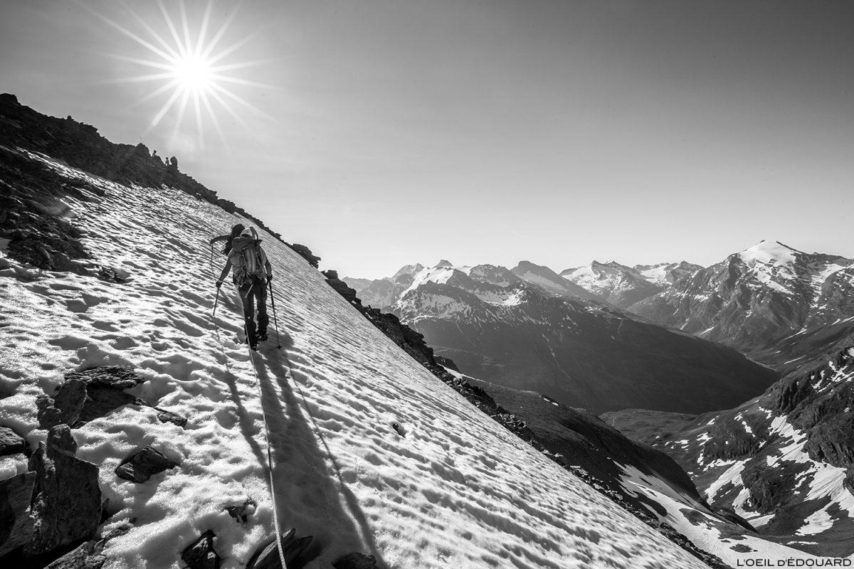 Randonnée glaciaire au sommet de la Pointe de Méan Martin alpinisme, Massif de la Vanoise - Paysage Montagne Alpes Mountain Landscape mountaineering