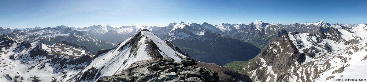Vue au sommet de la Pointe de Méan Martin alpinisme, Massif de la Vanoise - Paysage Montagne Alpes Mountain Landscape mountaineering