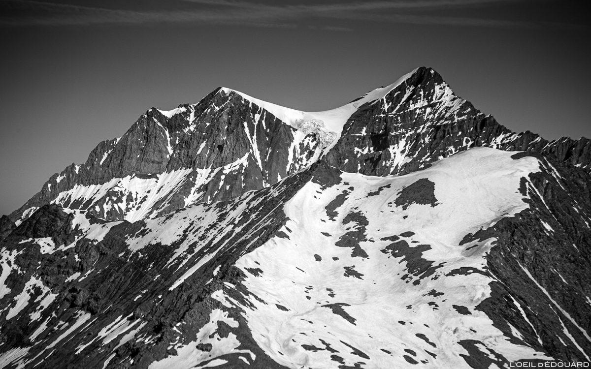 La Grande Casse depuis le sommet de la Pointe de Méan Martin alpinisme, Massif de la Vanoise - Paysage Montagne Alpes Mountain Landscape mountaineering