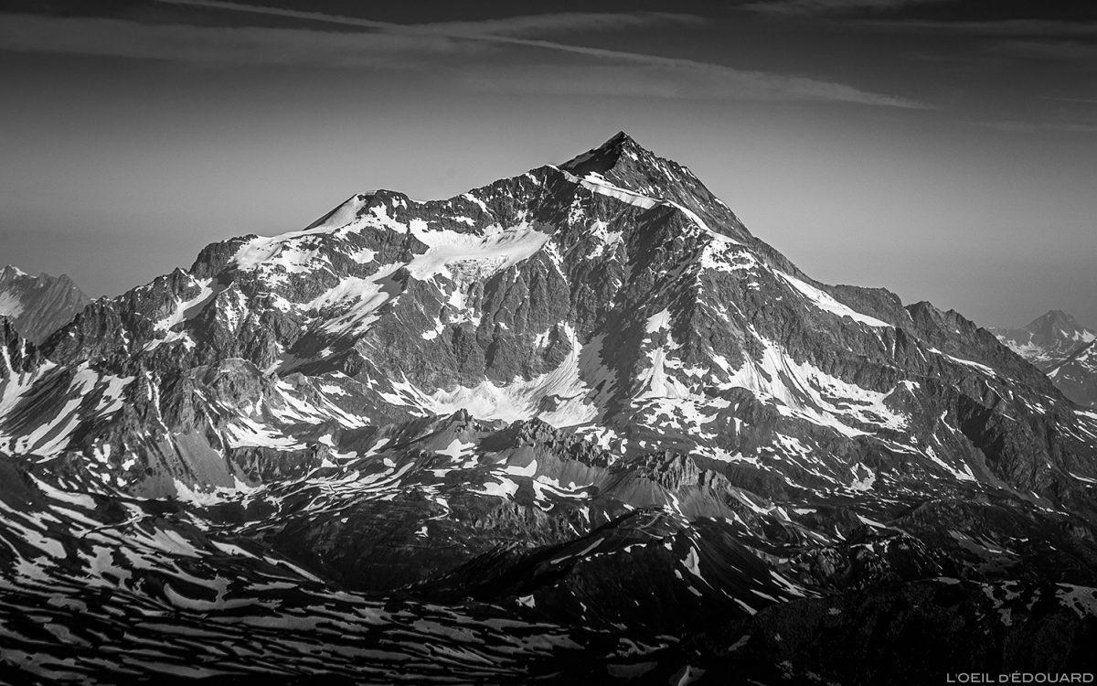 Le Mont Pourri depuis le sommet de la Pointe de Méan Martin alpinisme, Massif de la Vanoise - Paysage Montagne Alpes Mountain Landscape mountaineering