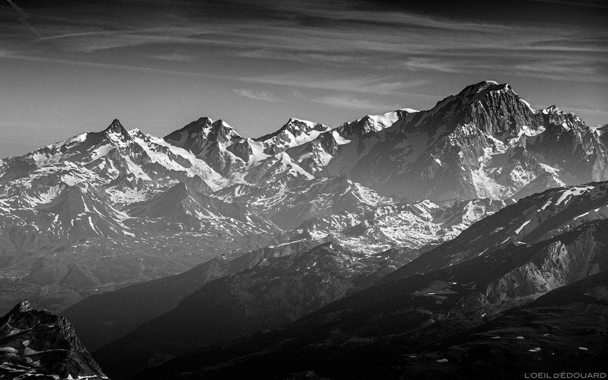 Le Massif du Mont Blanc depuis le sommet de la Pointe de Méan Martin alpinisme, Massif de la Vanoise - Paysage Montagne Alpes Mountain Landscape mountaineering