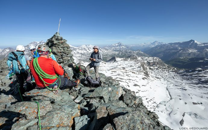 Le sommet de la Pointe de Méan Martin, Massif de la Vanoise - Alpinisme Paysage Montagne Alpes Mountain Landscape mountaineering