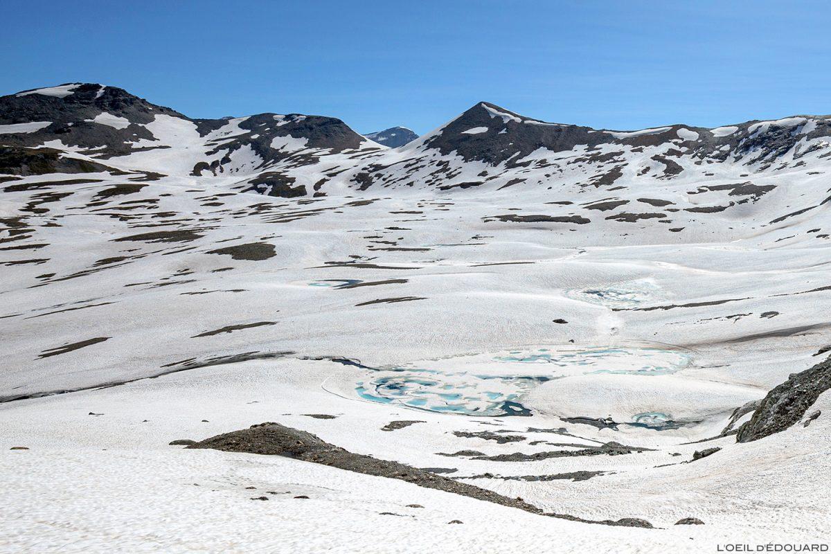 Pointes de Bézin, Plateau des Fours, sous la Pointe de Méan Martin alpinisme, Massif de la Vanoise - Paysage Montagne Alpes Mountain Landscape mountaineering