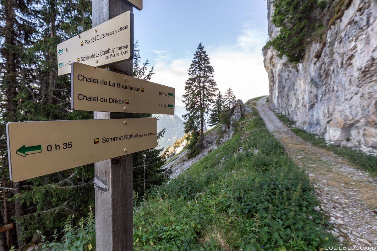 Itinéraire randonnée Chalet de la Bouchasse, La Sambuy, Haute-Savoie Alpes - Paysage Montagne Alpes Outdoor Mountain Landscape Hike Hiking