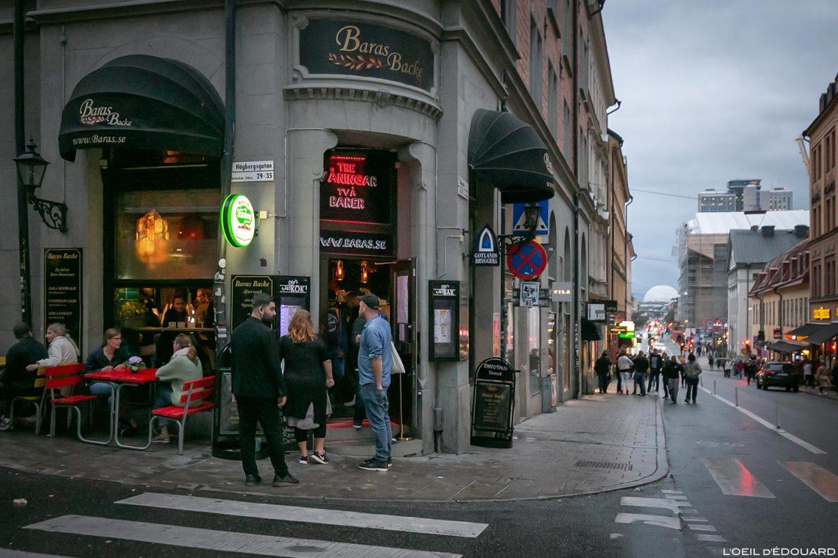 Bar Baras Backe, Götgatan Södermalm Stockholm Suède Sweden Sverige