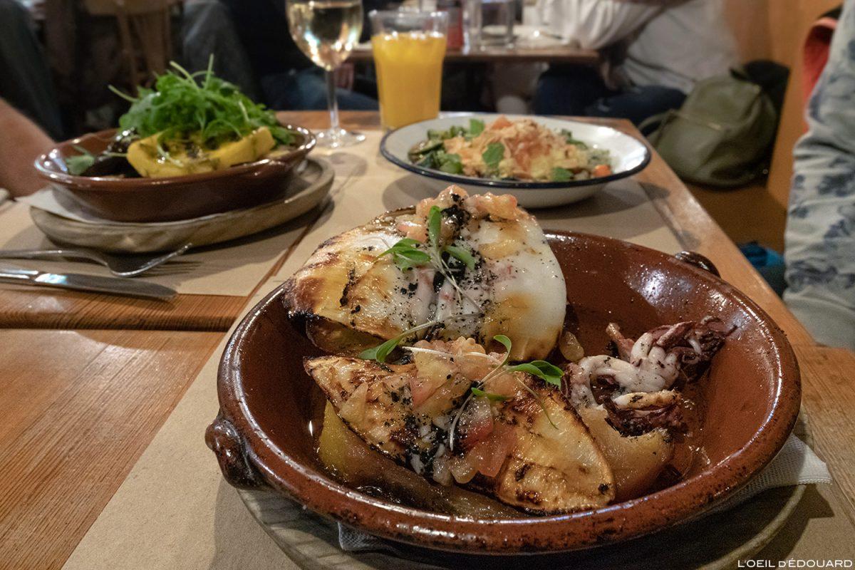 Restaurant Chapito a Mesa, Lisbonne Portugal Lisboa calamar grillé food