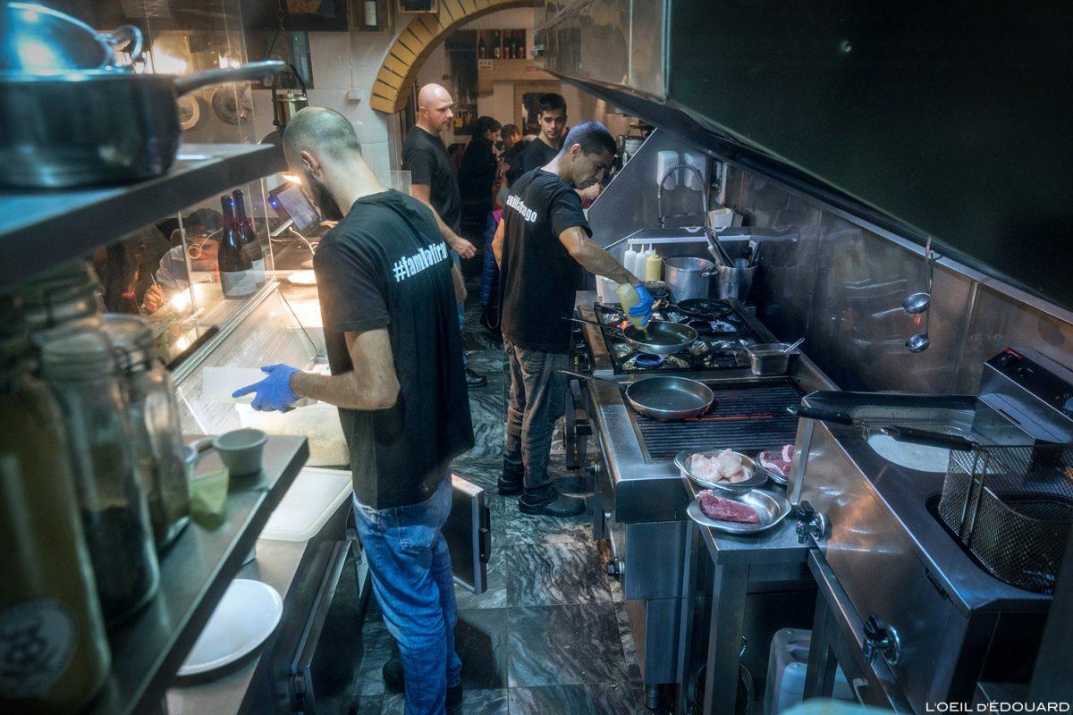 Cuisine Restaurant El Rei dom Frango, Lisbonne Portugal Lisboa cooking kitchen