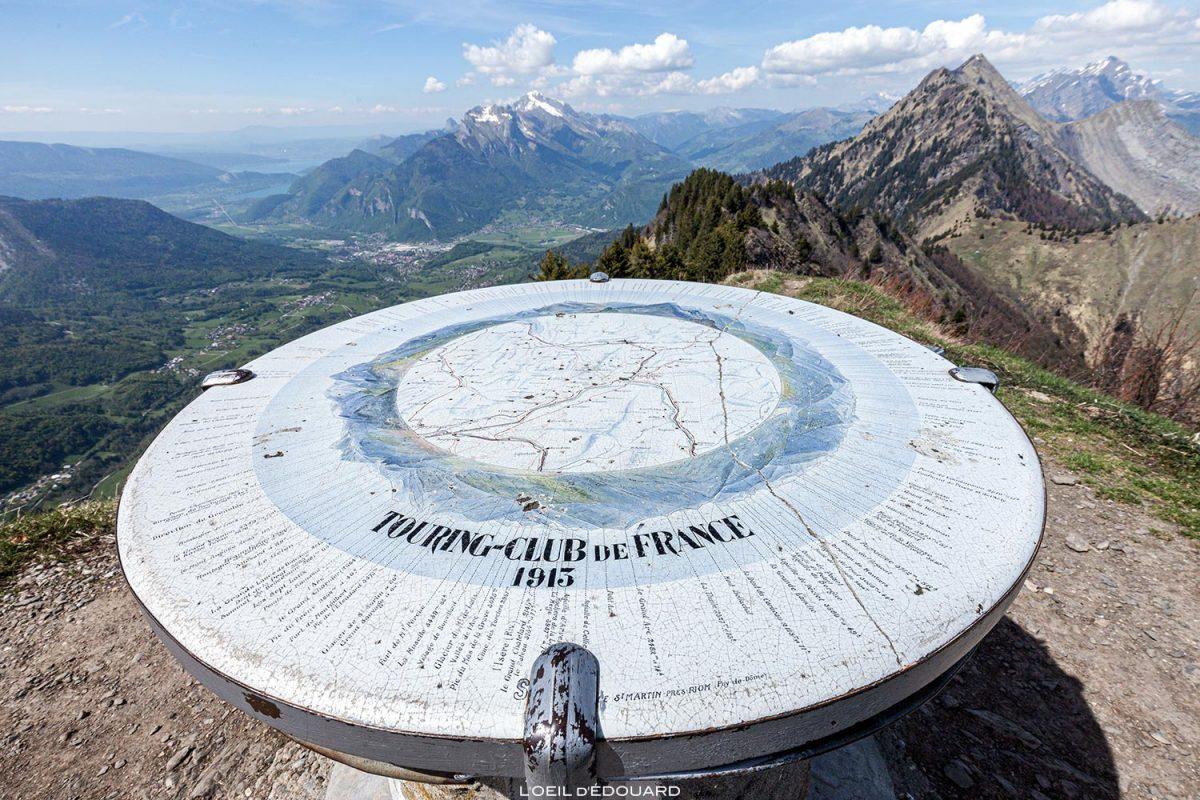 Table d'orientation au sommet de La Belle Étoile, Bauges Savoie Alpes - Paysage Montagne Randonnée Outdoor summit Mountain Landscape Hike Hiking