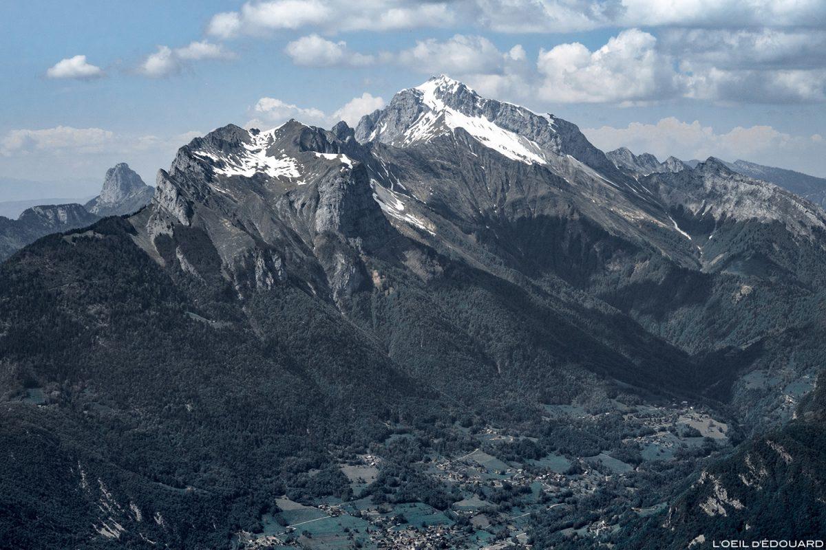La Tournette vue depuis le sommet de La Belle Étoile, Bauges Savoie Alpes - Paysage Montagne Randonnée Outdoor summit Mountain Landscape