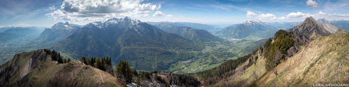 Vue depuis le sommet de La Belle Étoile, Bauges Savoie Alpes - Paysage Montagne Randonnée Outdoor summit Mountain Landscape