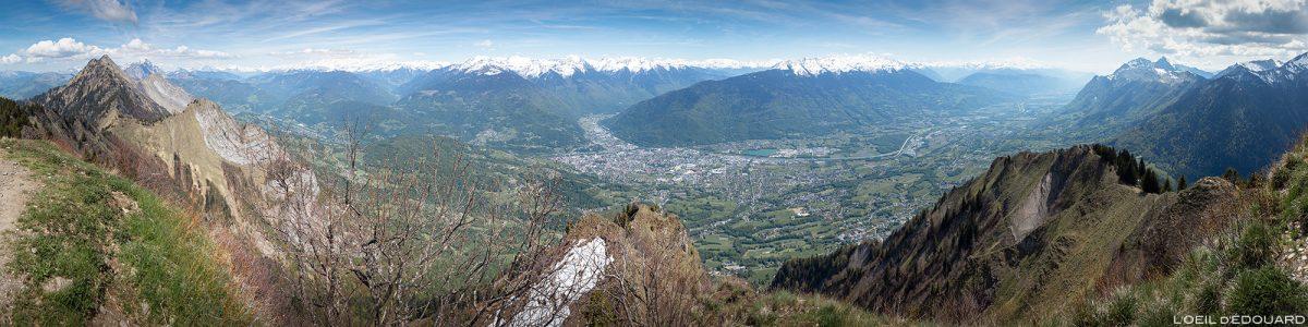 Vue sur Albertville depuis le sommet de La Belle Étoile, Bauges Savoie Alpes - Paysage Montagne Randonnée Outdoor summit Mountain Landscape