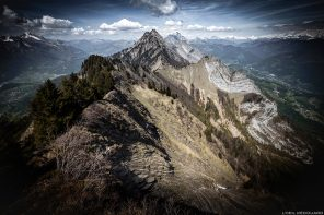 La Dent de Cons vue depuis le sommet de La Belle Étoile, Bauges Savoie Alpes - Paysage Montagne Randonnée Outdoor summit Mountain Landscape