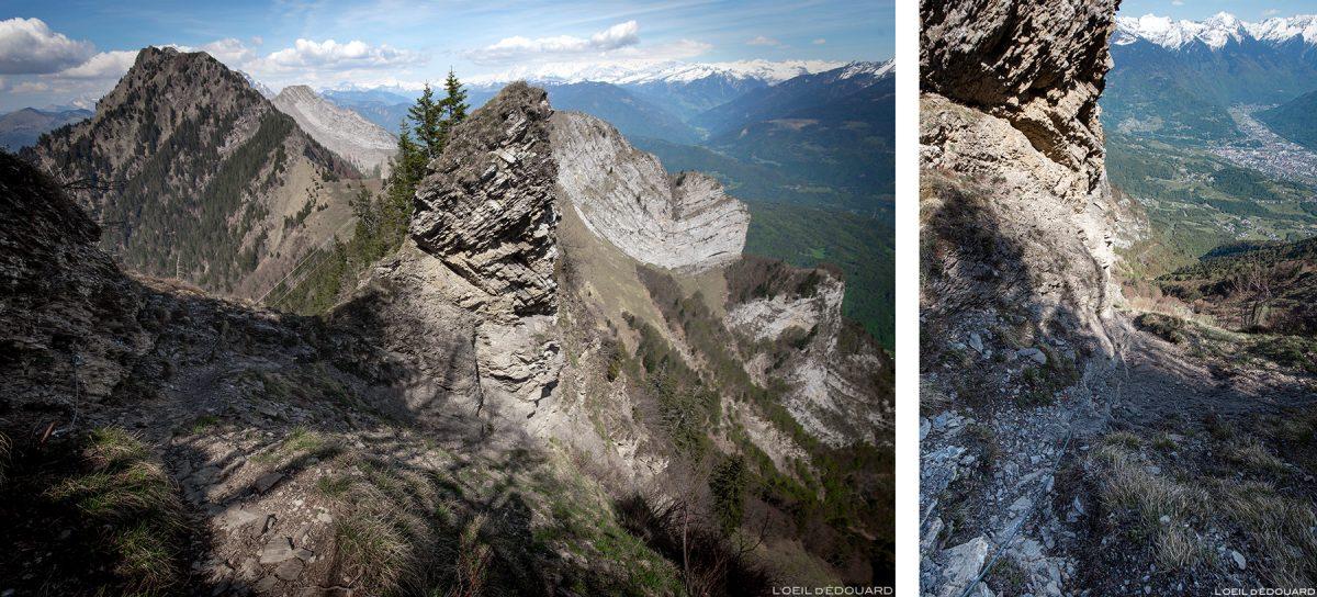 Le Pas de l'Âne entre La Belle Étoile et la Dent de Cons Bauges Savoie Alpes - Paysage Montagne Randonnée Outdoor Mountain Landscape