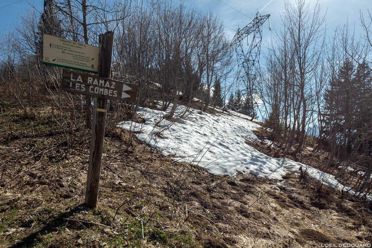 Le Col de l'Alpettaz entre La Belle Étoile et la Dent de Cons Bauges Savoie Alpes - Paysage Montagne Randonnée Outdoor Mountain Landscape