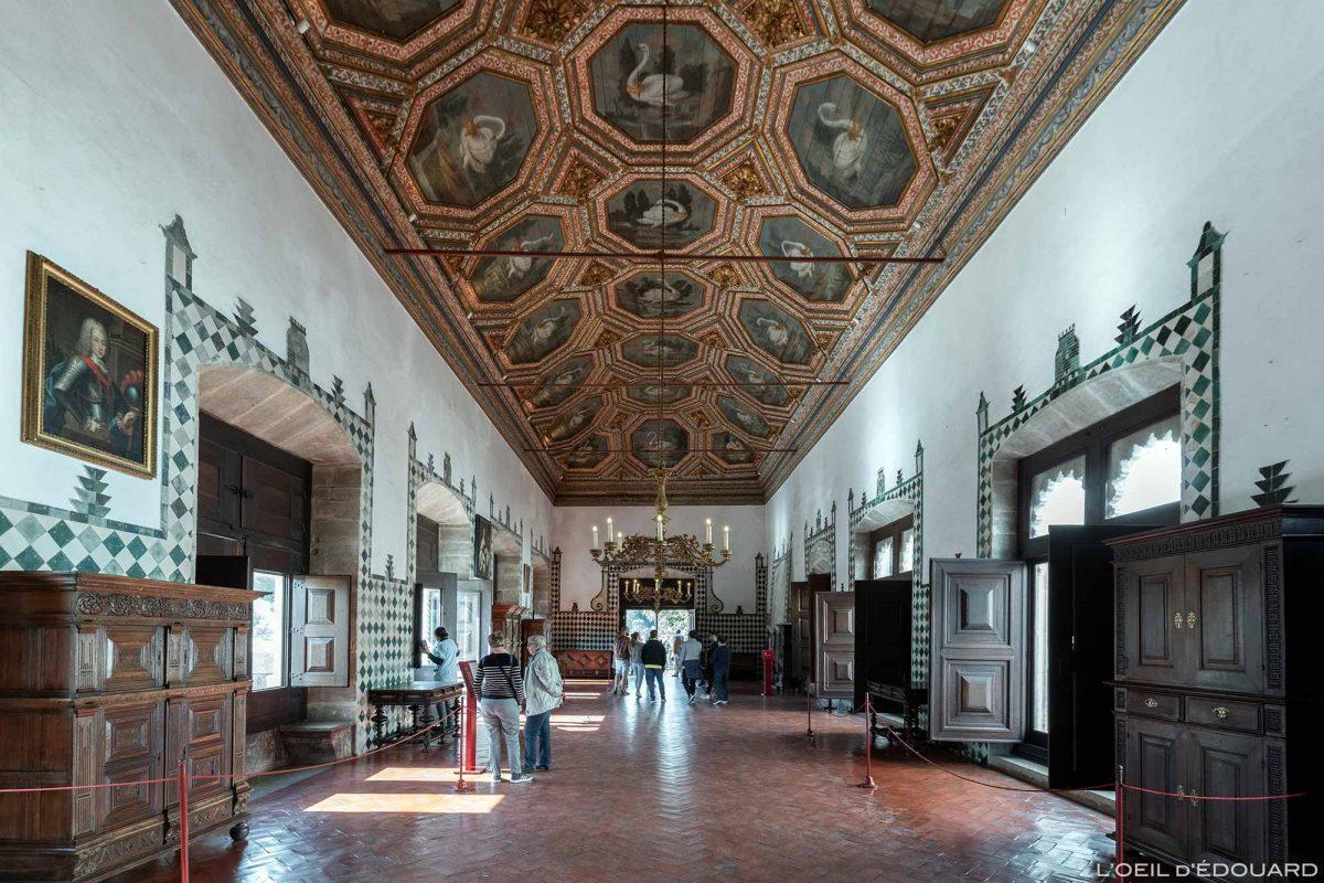Salle des cygnes, intérieur du Palais National de Sintra Portugal Lisbonne - sala dos Cisnes, Palacio Nacional Sintra Portugal Lisboa