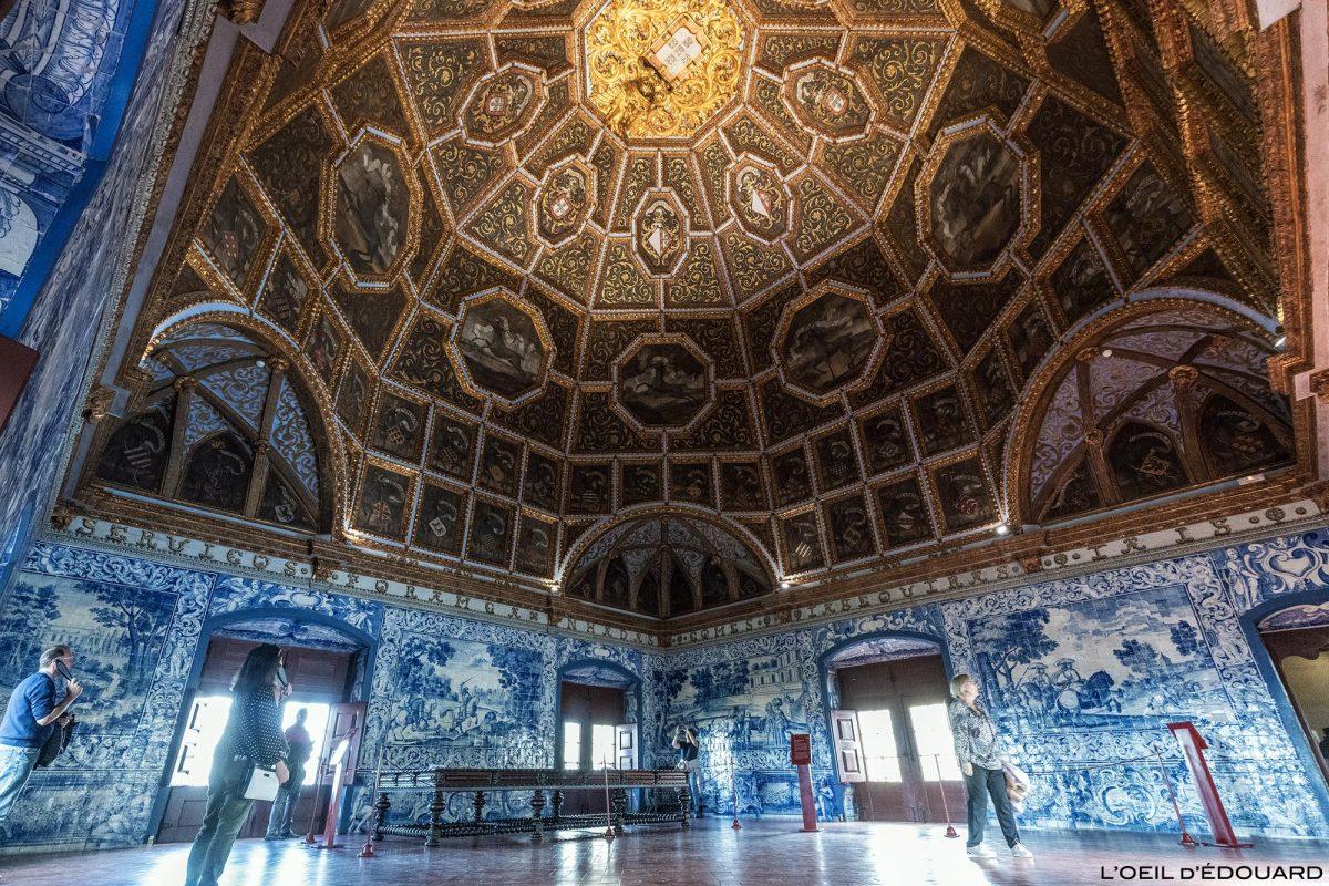 Salle des blasons, intérieur du Palais National de Sintra Portugal Lisbonne - Sala dos brasões, Palacio Nacional Sintra Portugal Lisboa