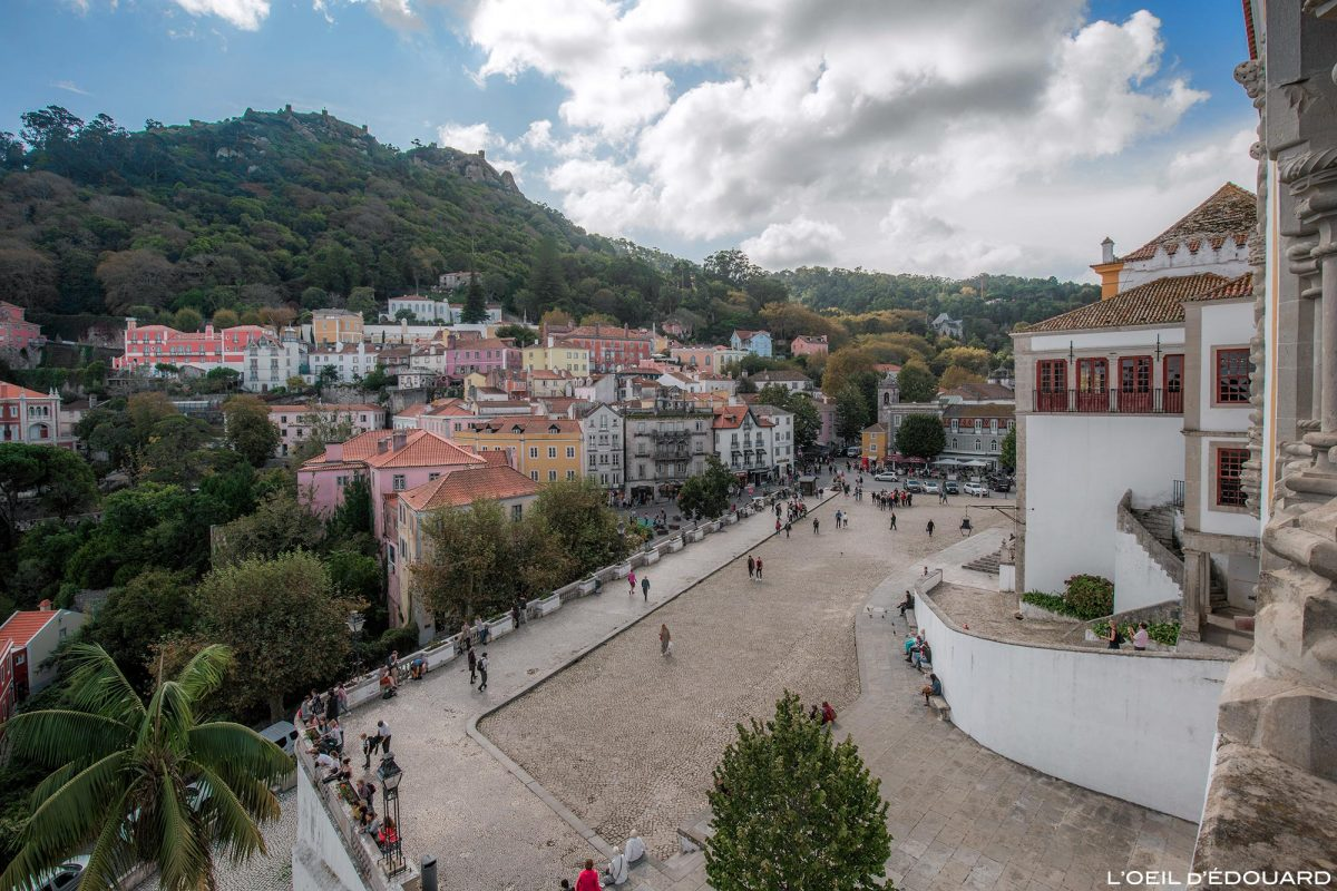 Village de Sintra depuis le Palais National Portugal Lisbonne - Palacio Nacional Sintra Praça da República Portugal Lisboa © L'Oeil d'Édouard - Tous droits réservés