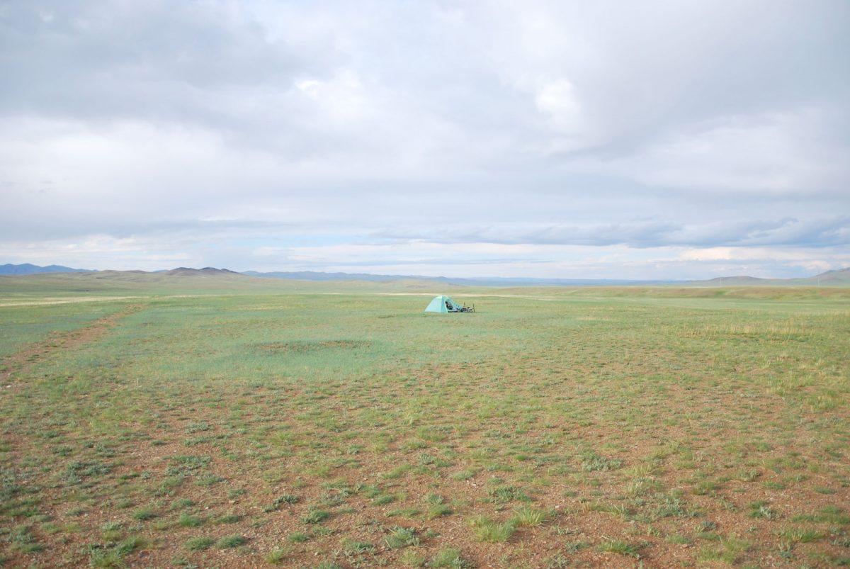 Tente bivouac dans les steppes de Mongolie Asie Mongolia Asia horses