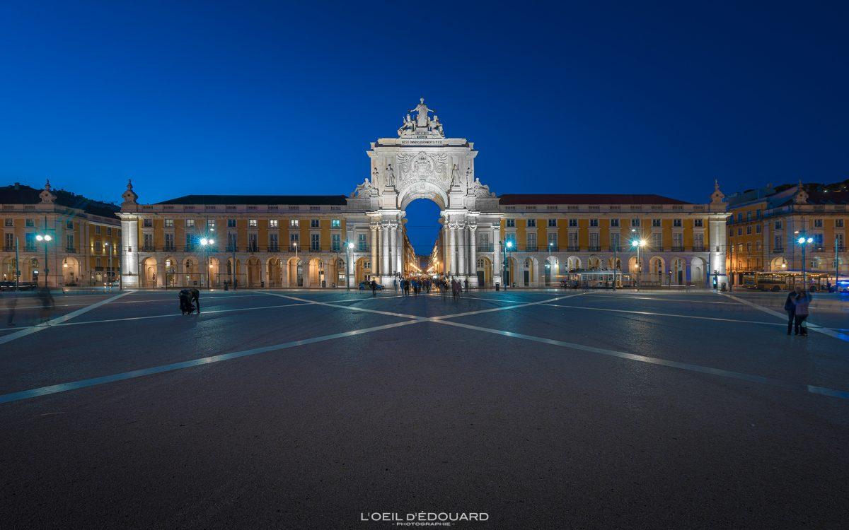 Monument Arc de Triomphe Lisbonne Portugal - Arco da Rua Augusta Praça do Comercio Lisboa Lisbon © L'Oeil d'Édouard - Tous droits réservés