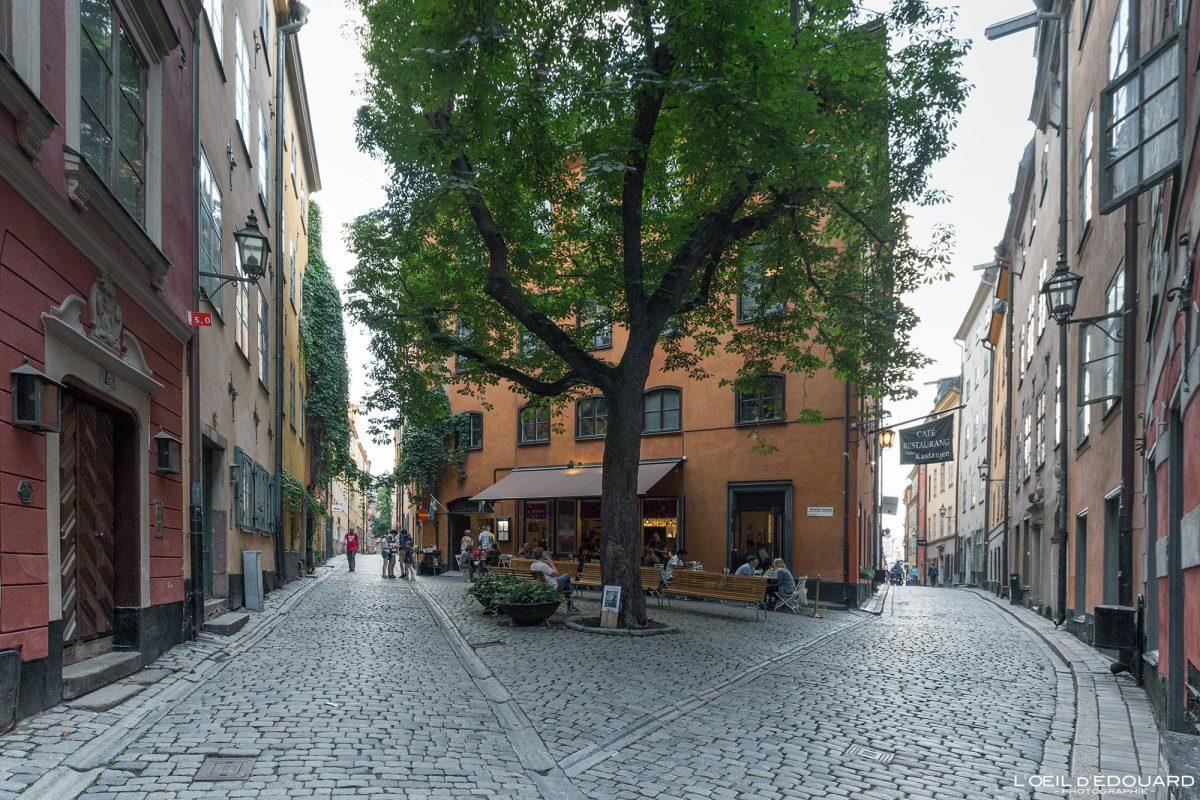 Rue Osterlanggatan - vieille ville Gamla Stan Stadsholmen Stockholm Suède Sweden Sverige street