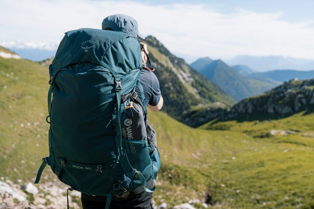 Test sac à dos randonnée Osprey Rook 50 backpack review mountain outdoor trekking © Mickaël Peralta